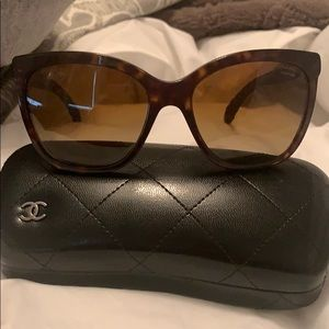 Chanel Brown Polarized Sunglasses